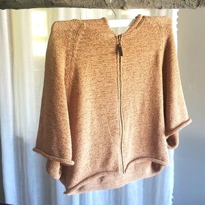 Willi Smith Hooded Zip front Fashion Sweater